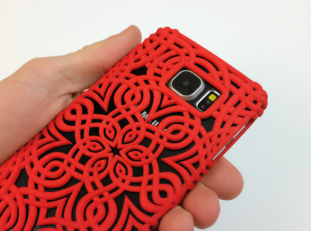 Lotus Art case for Galaxy S6 in Red Processed Versatile Plastic