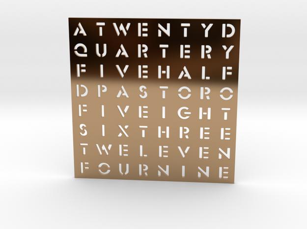 Timesquare Wordclock faceplate (Stencil font)