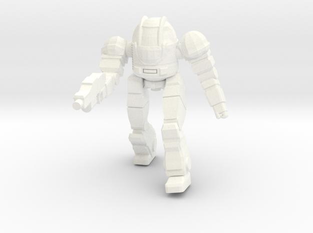Ogre Mk II Pose 1 in White Processed Versatile Plastic