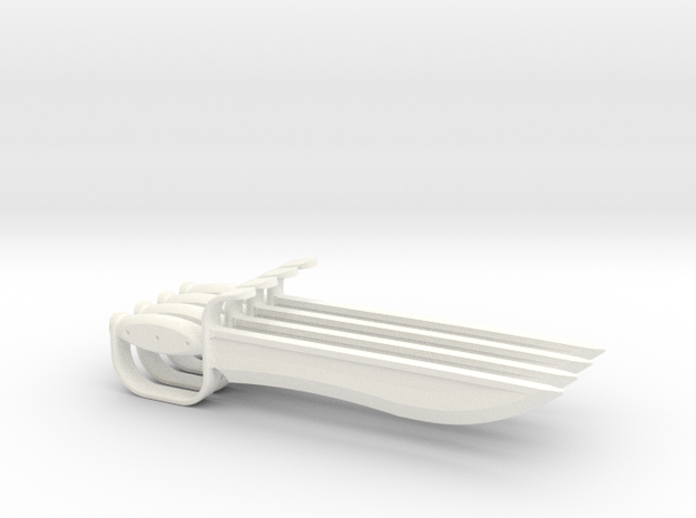 1:6 Butterfly Swords 2 pair in White Processed Versatile Plastic