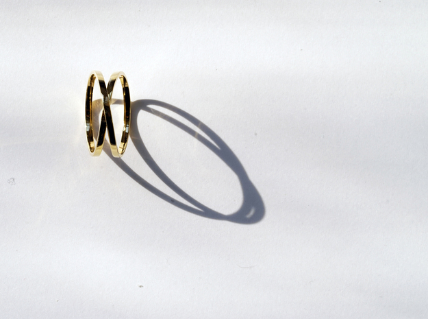 Infinity Ring in 14k Gold Plated Brass