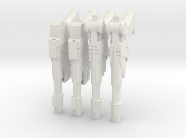 1:6 25th Century Blasters 2 pairs SF version in White Natural Versatile Plastic