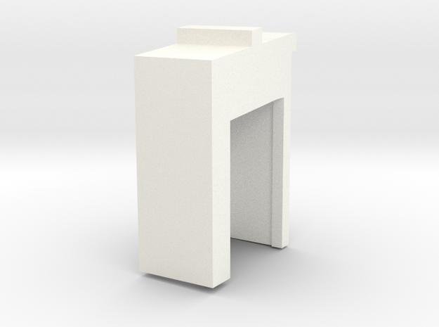 Merillat Cabinet rear drawer slide bracket (L) in White Processed Versatile Plastic
