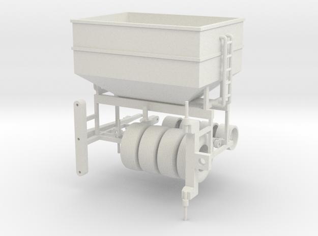 1/64 scale DMI 300 bushel center dump wagon kit in White Natural Versatile Plastic
