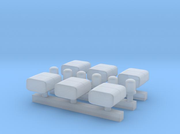 RTK 3 (Lautsprecher + KL600) - 6 Stück 1/87 in Frosted Extreme Detail
