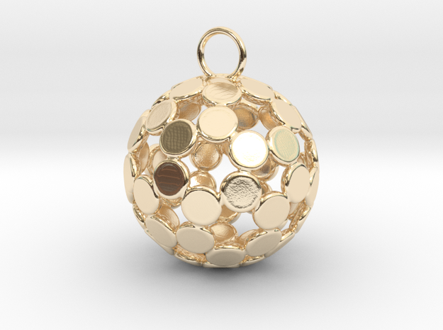 ColorBall Pendant in 14k Gold Plated Brass