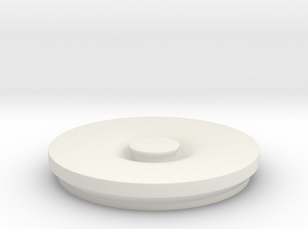 Garbage Lid in White Natural Versatile Plastic