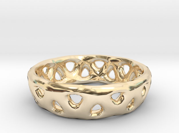 Frame Ring in 14K Yellow Gold
