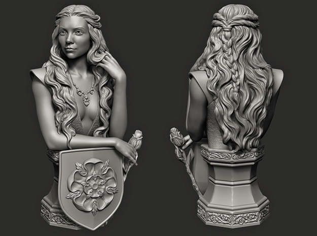 Margaery Tyrell. (11 cm\ 4.33 inches) in White Natural Versatile Plastic