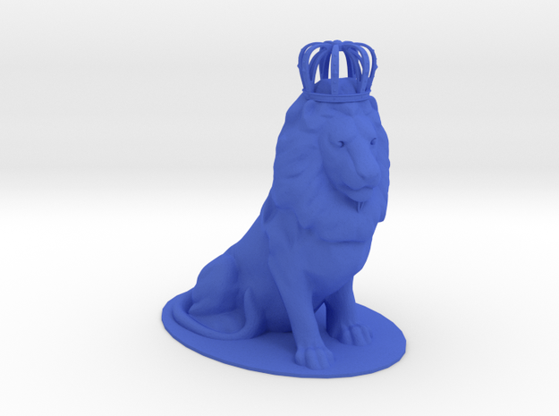 The King - Crowned Lion in Blue Strong & Flexible Polished