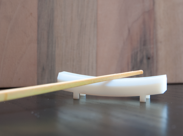TORii chopstick rest in White Strong & Flexible