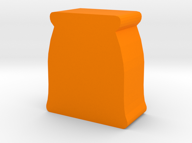 Game Piece, Grain Sack in Orange Processed Versatile Plastic