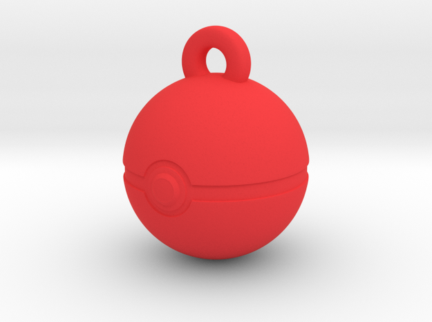 Poke Pendant in Red Processed Versatile Plastic
