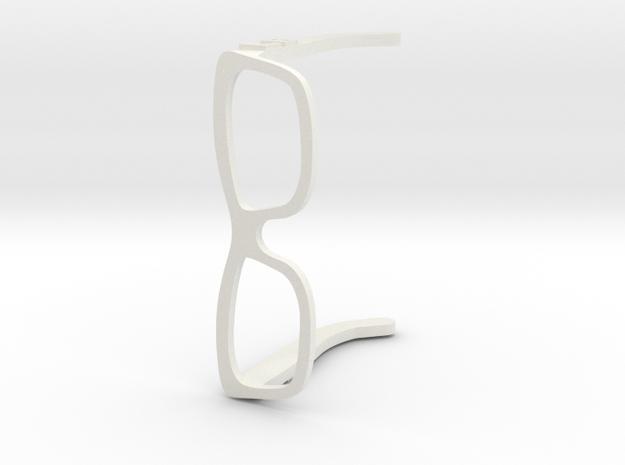 LB Glasses in White Natural Versatile Plastic