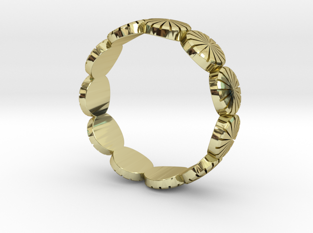 Ring - US 9, AUS/UK R 1/2. in 18k Gold Plated Brass