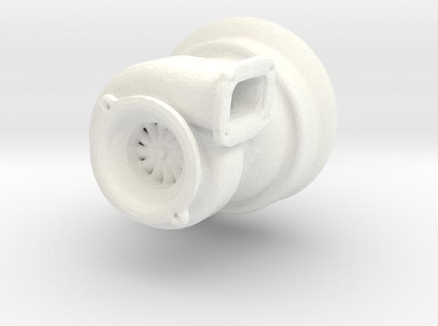 Turbo in White Processed Versatile Plastic