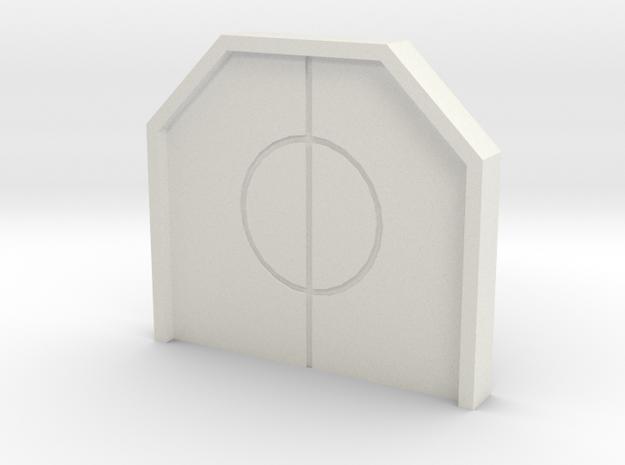 Hub Closed Door in White Natural Versatile Plastic