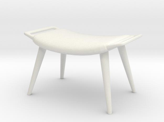1:24 Wegner Lounge Ottoman in White Natural Versatile Plastic