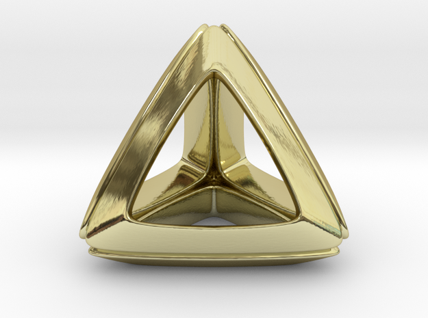 Trianon Pendant in 18k Gold Plated Brass