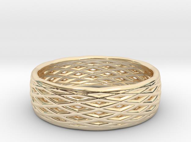 V8 Ring in 14k Gold Plated