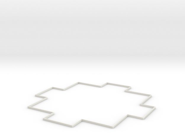 Area Effect Template - 20 foot radius circle in White Natural Versatile Plastic