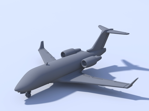 1:500_Challenger 604 [x2][A] in Smooth Fine Detail Plastic