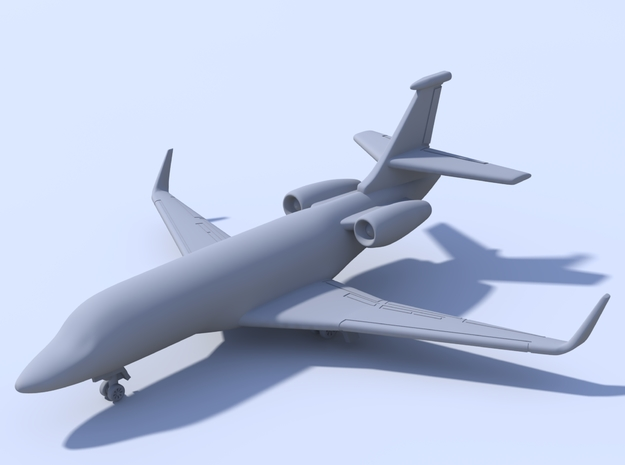 1:500_Falcon 2000 [x2][A] in Smooth Fine Detail Plastic