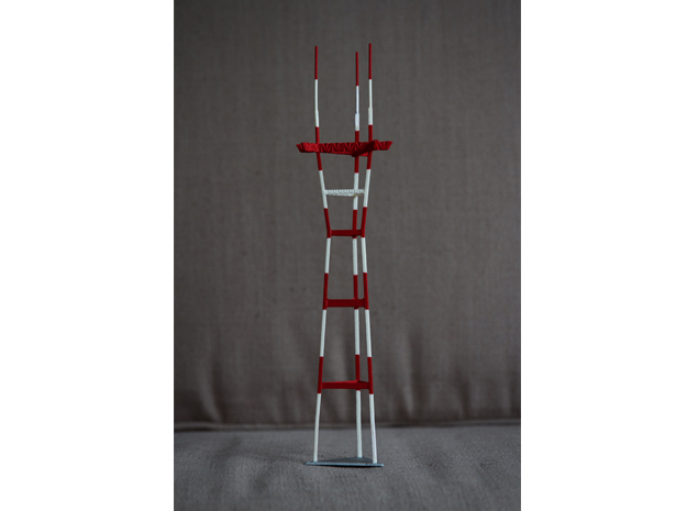 "12"" Sutro Tower in White Strong & Flexible"