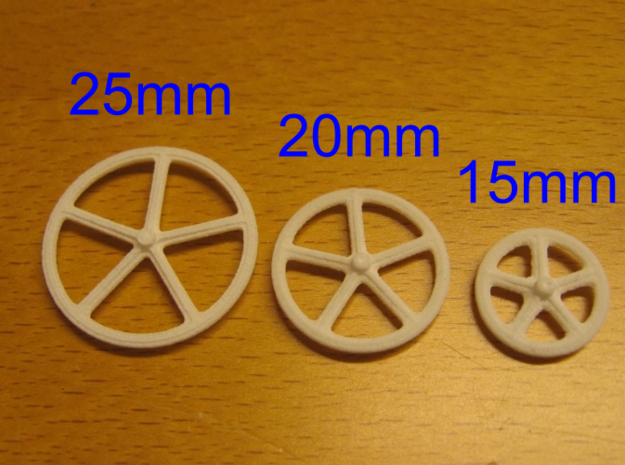 20mm wheels, 4pcs 3d printed Different sizes available
