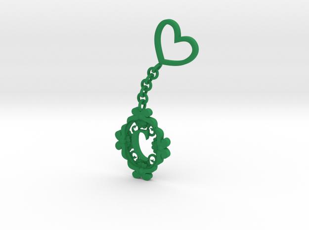 C Keychain Art Nouveau  3d printed