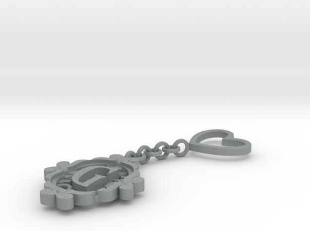 G Keychain Art Nouveau 3d printed