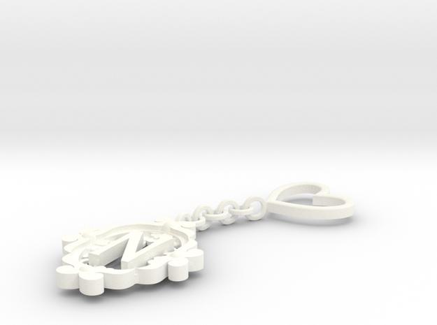N Keychain Art Nouveau 3d printed