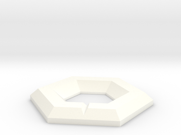 NXS - Marked Hex in White Processed Versatile Plastic