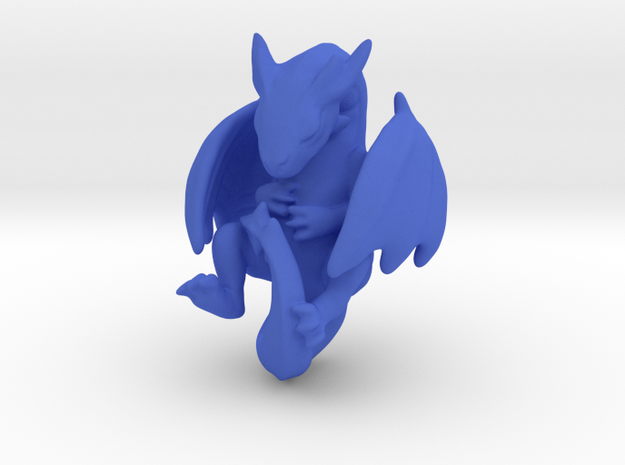 Infant Dragon in Blue Processed Versatile Plastic