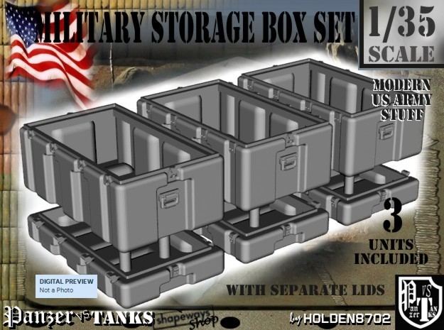 1-35 Military Storage Box Set