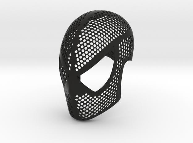 Symbiote Face Shell  - Black Suit Mask Raimi in Black Natural Versatile Plastic: Medium