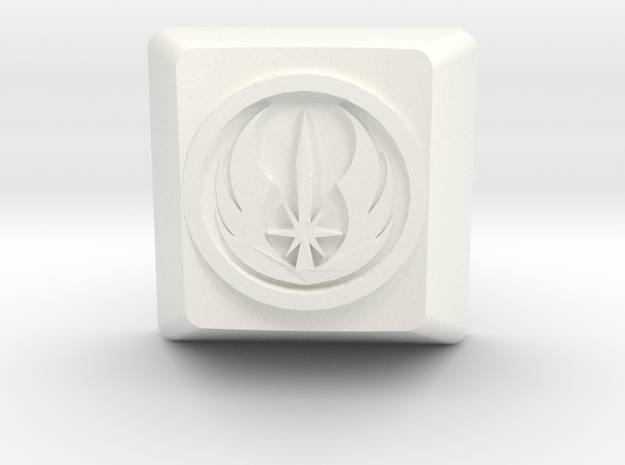 Jedi Order Cherry MX Keycap in White Strong & Flexible Polished