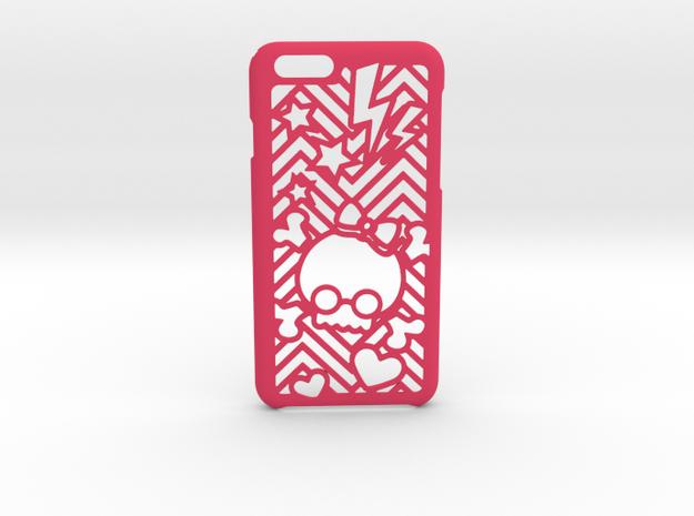 BowSkull iPhone 6 6s case in Pink Processed Versatile Plastic