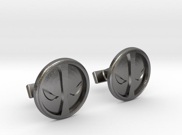 Deadpool Cufflinks in Polished Nickel Steel