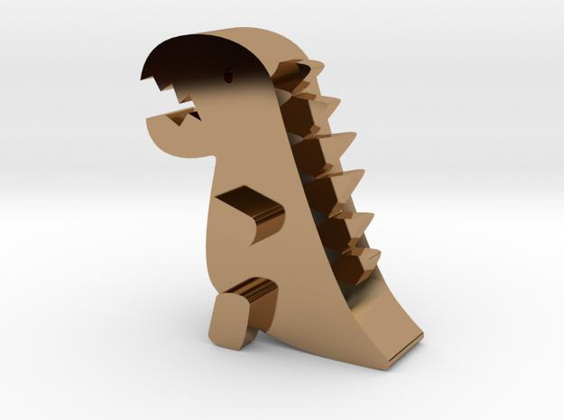 Little dinosaur in Polished Brass