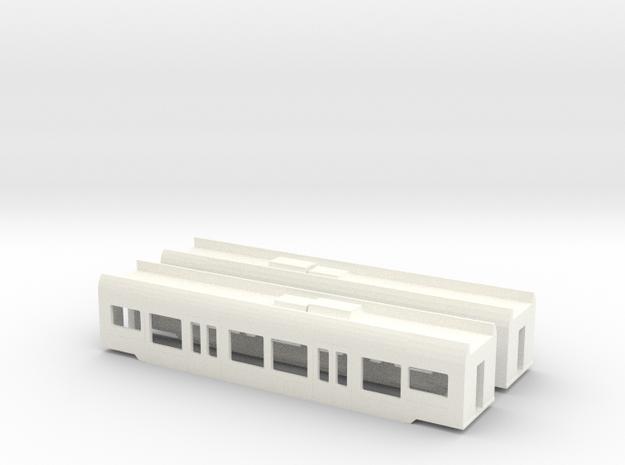 Flirt Scale TT Set Mittelwagen in White Strong & Flexible Polished: 1:120