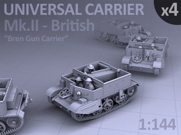 Universal Carrier Mk.II - (4 pack) in Smooth Fine Detail Plastic