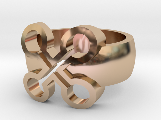 Adinkra Rings - Series 2: Nyame Bewu Na Mewu in 14k Rose Gold Plated Brass
