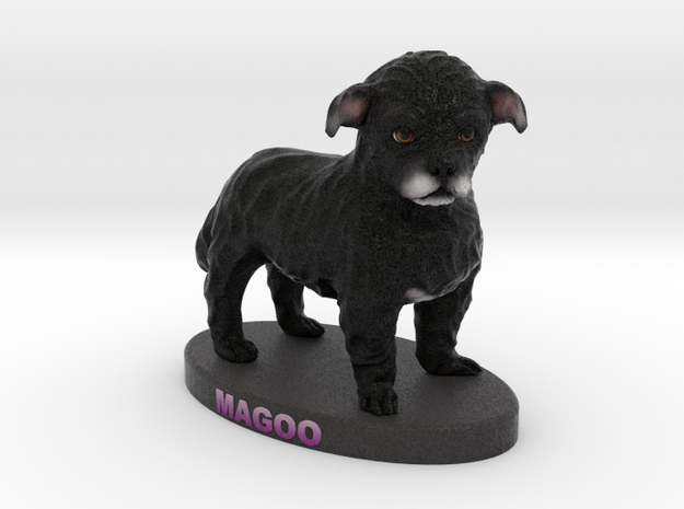 Custom Dog Figurine - Magoo in Full Color Sandstone