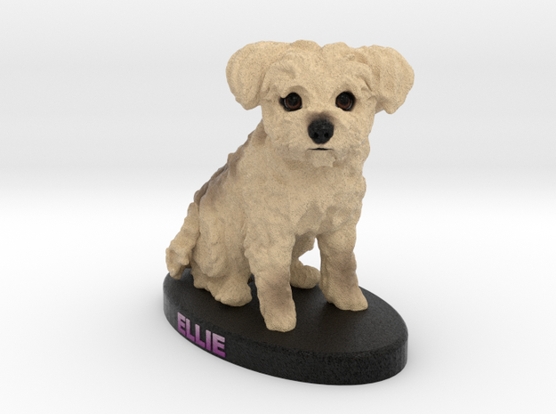 Custom Dog Figurine - Ellie in Full Color Sandstone