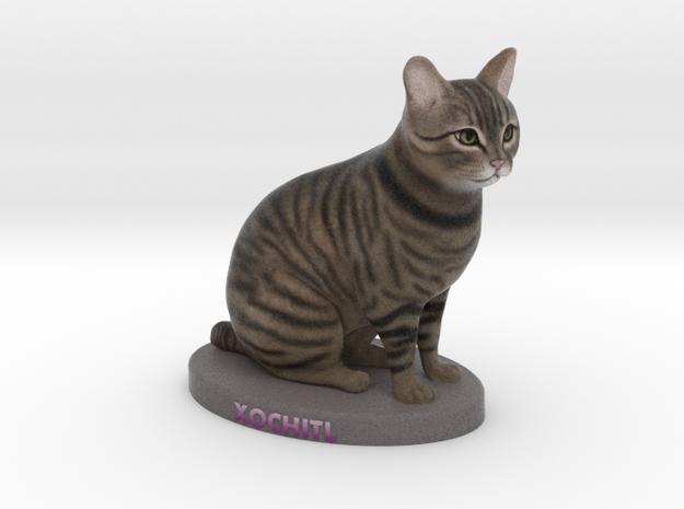 Custom Cat Figurine - Xochitl in Full Color Sandstone