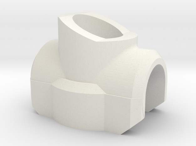 Cross Saber Hilt Guard in White Natural Versatile Plastic