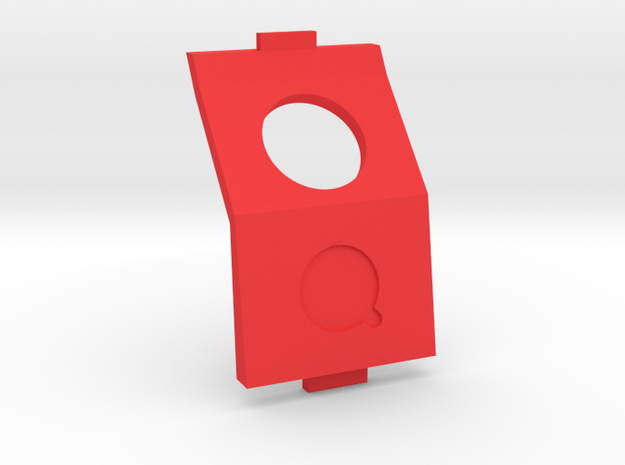 QAV210 / QAV180 / QAV-R 40 degree CAM mount in Red Strong & Flexible Polished