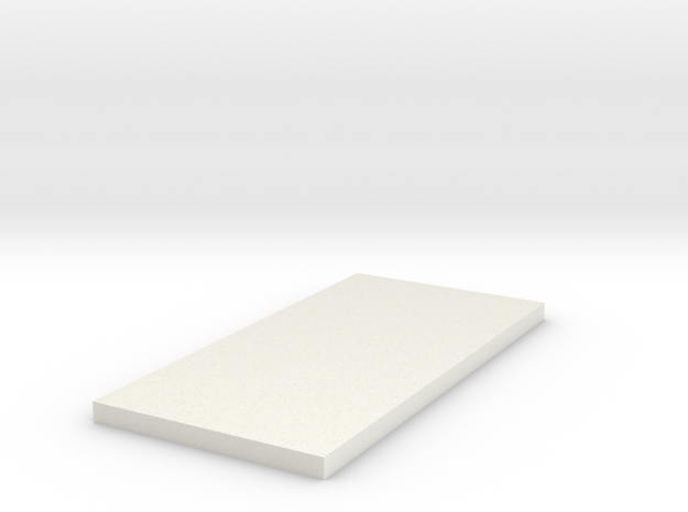 1:48 4'x8' Platform in White Natural Versatile Plastic