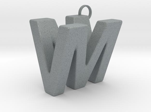 V&M 3D Ambigram in Polished Metallic Plastic